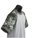Everyday Life Gray Adult Army Theme Sleeved Jersey T-Shirt