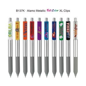 Alamo Metallic Pen with Full Color XL Clips